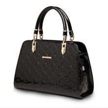 Hot sale glossy black handbag stereo typed handbag women luxury handbag Imitation brand bags