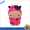 3D cartoon high quality silicone case for mobile phone,silicon cow case for iPhone 5s
