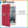 For iPad Leather Back Cover! Ultra-thin Smart Tri-Fold Wake/Sleep PU Leather Back Cover for iPad Mini 2