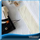 Organic cotton elegant plain white face towel for hotel