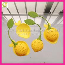 Simple design cute FDA food grade heat resistant silicone tea infuser novelty,soft rubber tea ball