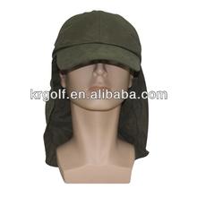 New Neck guard Cap Detachable sun visor hat adult neck flap hats