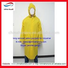 rain coat/pvc vinyl/poly rain coat yellow