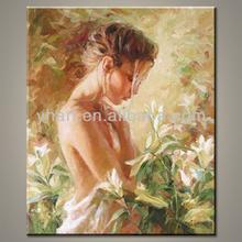 Wholesale handmade home decor pino beautiful nude girl oil painting