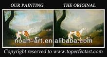 Handmade wild animals oil painting on canvas