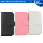 Hot sale Lichee Pattern Leather wallet Flip Case Cover for samsung s3mini i8190