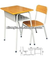 stainless steel single seater desk and chair,school desk dimensions for school