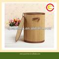 utilidade atacado cilíndrica de bambu cesta para o armazenamento de roupas