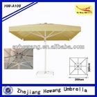 3x3 M High quality Strong windproof aluminium frame square parasol, sun garden umbrella
