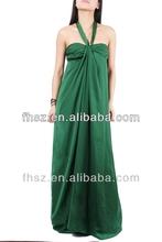 New arrival fashion green maxi dress girls puffy dresses evening dress