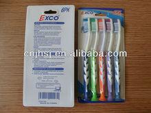 2014 High Quality Toothbrush,5pcs/blister card