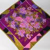 twill silk scarf jaquard Italian floral twill silk scarf