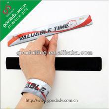 Quality print custom pvc slap wrist band/pvc slap bands