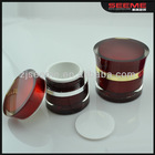 red color & elegant Cosmetics Packaging Acrylic Jar made in CHINA