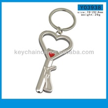 Fashion promotional custom simple heart key ring loop