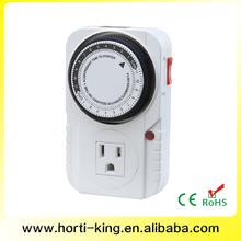24 horas 120 V único soquete tomada elétrica interruptor do temporizador automático