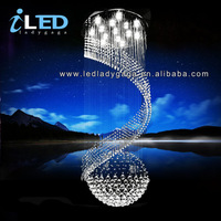 2014 AC110V 220V Dia.500*H1500 mm Newest LED K9 Crystal chandelier newest fancy modern home hotel church chandeliers