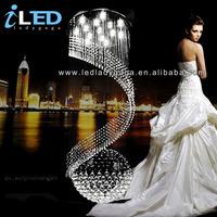 Dia.400*H1200 mm Newest LED K9 Crystal chandelier crystal chandelier ceilling lamp