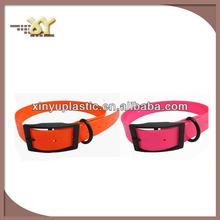 Curved metal buckles for dog collars,tpu dog collar, gun black buckle collar