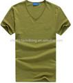 Hombres de cuello en v de color t- camisetas al por mayor