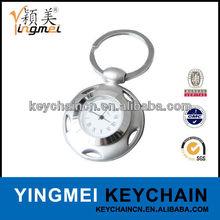 Promotional Gifts Custom circle metal key ring clock