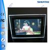 customized frameless movie poster display crystal acrylic light box