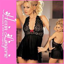 Plus size mature sheer wholesale women black satin teddy lingerie