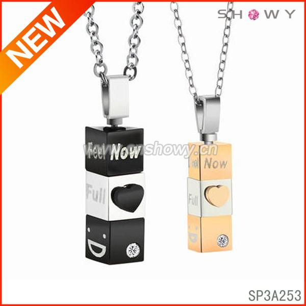 cute couple necklace pendant jewelry