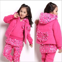 D85941H winter hot sell 3 pieces thick children's sets