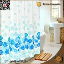 100% polyester printed waterproof bath curtain customized making shower curtain