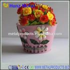 Excellent metal cute table flower pots