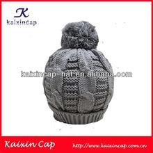 wholesale 100% cotton gery plain kufi crochet beanie skull cap knit hat knit beanie children cap