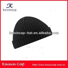 wholesale 100% cotton black plain kufi crochet beanie skull cap knit hat knit beanie children cap