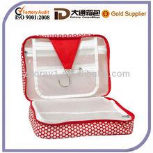 Waterproof Cosmetic Box Bag /Hanger Red Dots