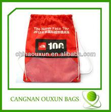 popular wholesale nylon mesh drawstring bags