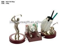golf man desktop decoration with pen holder wholesale