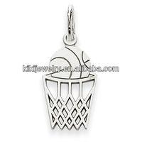 hot selling basketball and basket sports metal pendant