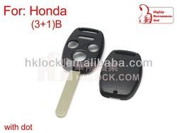 key blanks wholesale for Honda remote key shell 3+1button