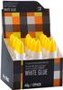 White craft glue in color box
