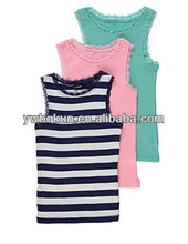 2015 new trendy toddler girls sleeveless tank top wholesale kids girls soft cotton vest baby summer t-shirt