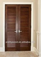 MDF veneer painting wood folding door