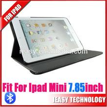 slim mini Bluetooth Keyboard for iPad mini With Detachable Cover leather bluetooth keyboard case for ipad mini