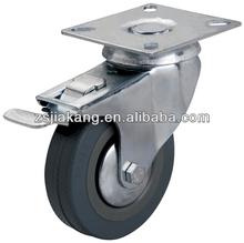 3 inch swivel grey caster , rubber caster wheel