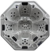 octagonal outdoor whirlpool 8 persons hot tub with 2 babies seats