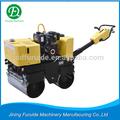 Doble tambor vibratorio de mano hidráulico operado 2t rodillo de camino, mini carretera compactador de rodillo