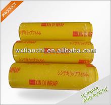 15mic pvc wrap film cling film good transparent cast roll soft pvc film