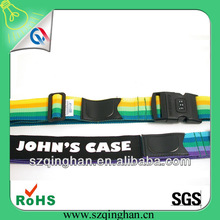 high quality nylon colorful luggage bag belt with digital lock china manufacturer