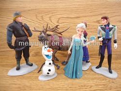 Fashion plastic pvc Forzen model dolls decorate,6 designs in one set,Elsa/Anna/Kristoff/Olaf