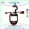 High quality 4 Layers Rigid-Flex PCB Laminate: FR4+PI Board thickness: 1.6mm china supplier