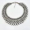 wholesale 2014 fashion costume jewelry accessory from china, new designs chunky rhinestone crystal collar necklace